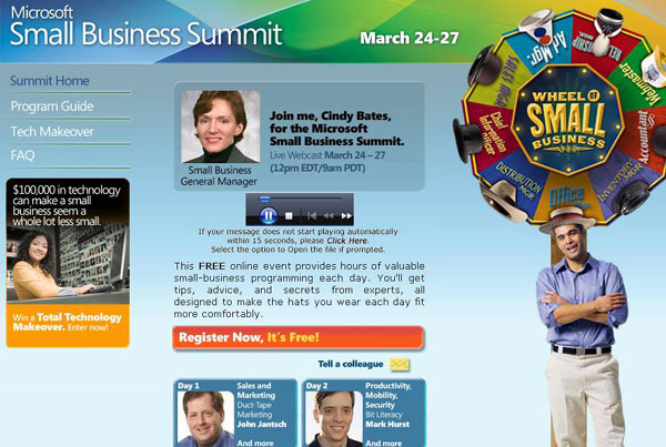 Microsoft Small Business Summit – eVoice Sample