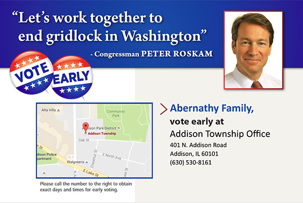 Early Voting Location Voice Message