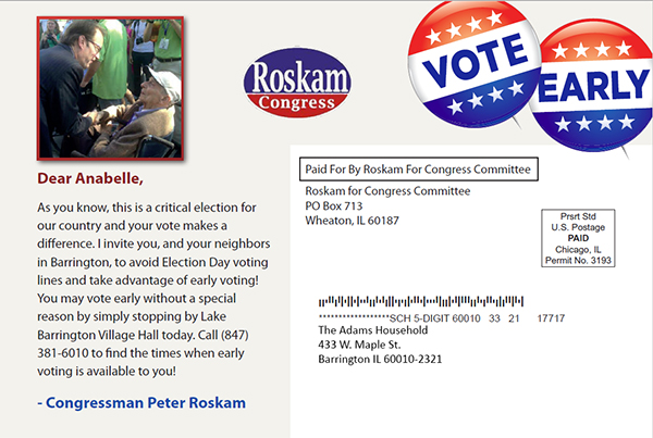Early Voting Location Mailer