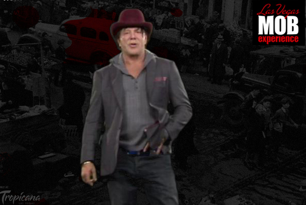 Las Vegas Mob Experience Sample – Mickey Rourke in Bootlegger's Alley